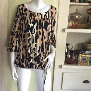 Diane Von Furstenberg silk leopard